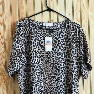 Michael Kors leopard print blouse small